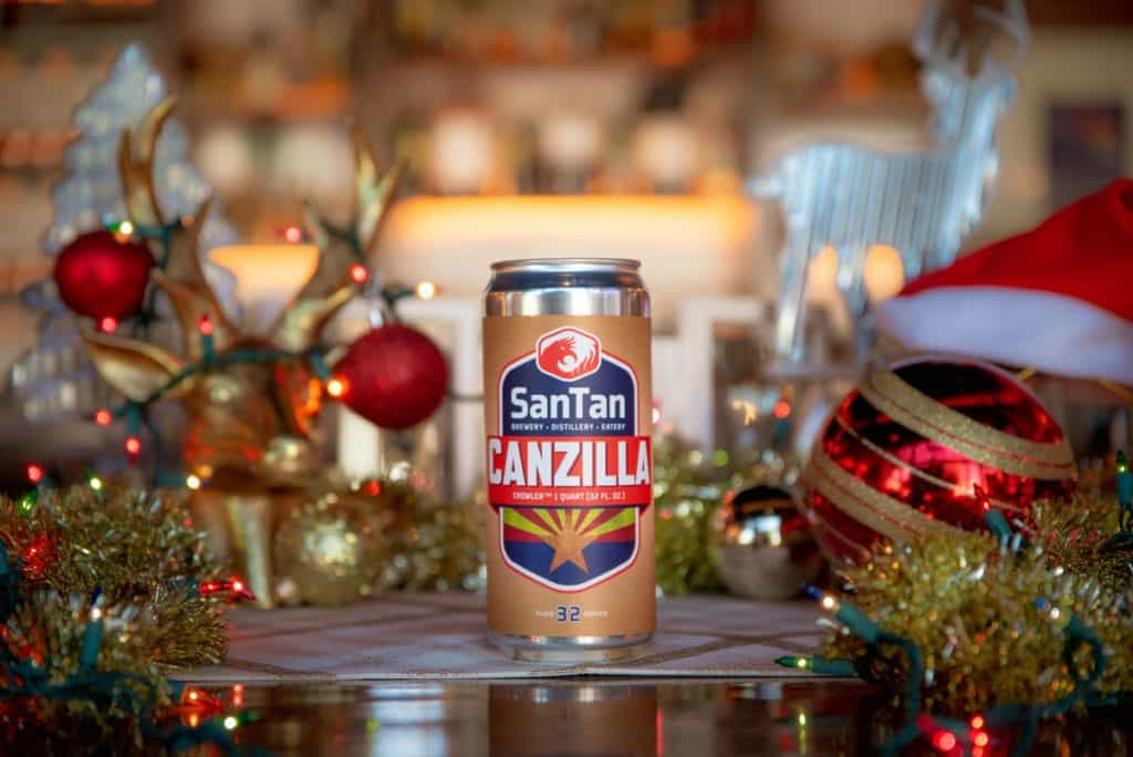 SanTan Brewing canzillas are great last minute holiday gifts for craft beer lovers.