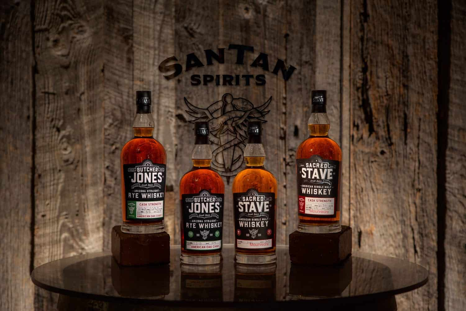 Arizona distillery SanTan Spirits Butcher Jones and Sacred Stave Whiskey, winners of the 2019 New York World Wine & Spirits Competition